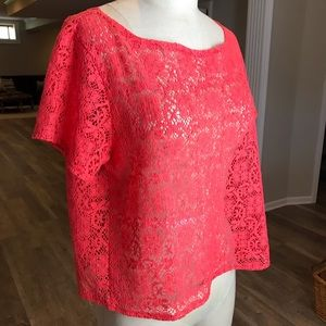Michael Stars | Coral Lace Top
